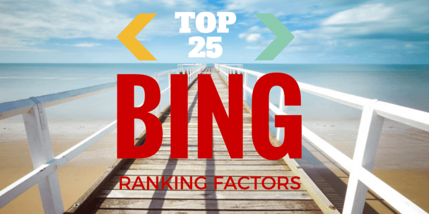 top 25 bing ranking factors